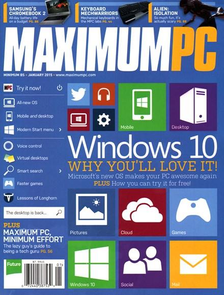 Maximum PC Cover - 1/1/2015