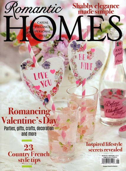 Romantic Homes Cover - 1/1/2015
