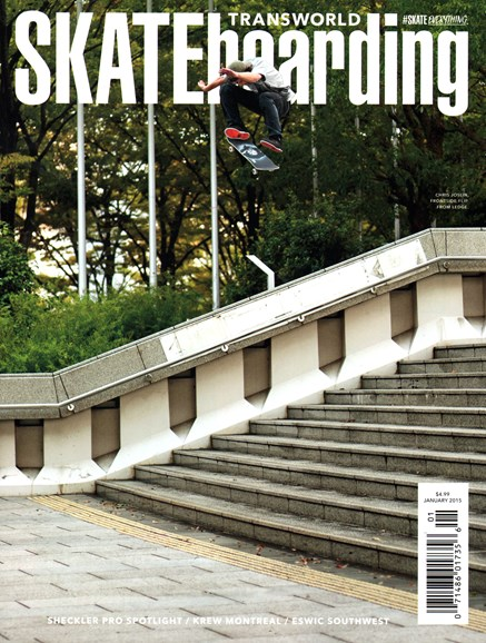 Transworld SKATEboarding Cover - 1/1/2015