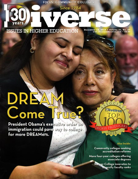 Diverse: Issues In Higher Education Cover - 12/16/2014