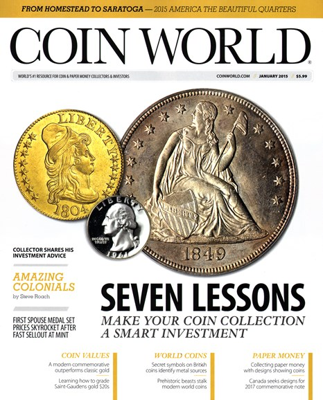 Coin World Weekly Cover - 1/1/2015