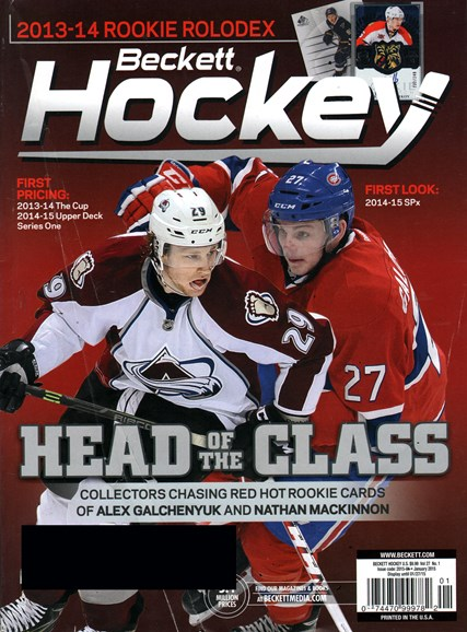 Beckett Hockey Cover - 1/1/2015