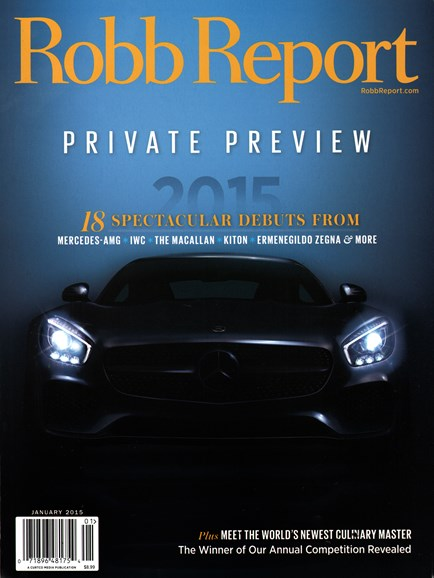 Robb Report Cover - 1/1/2015