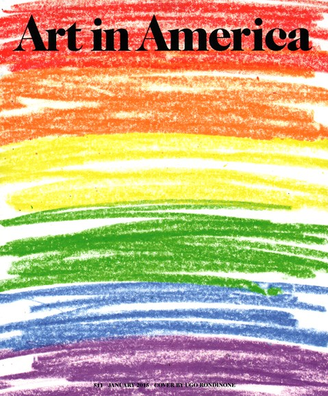 Art In America Cover - 1/1/2015