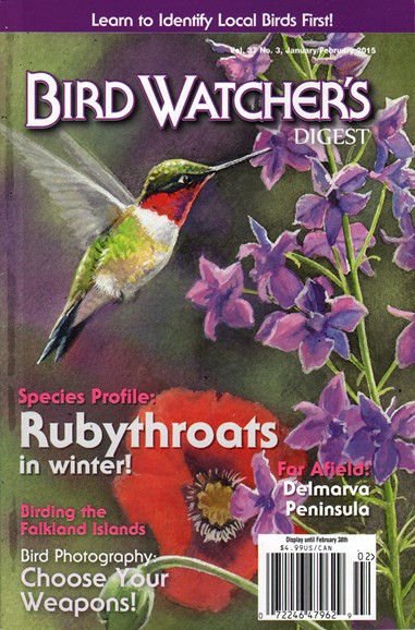 Bird Watcher's Digest Cover - 1/1/2015