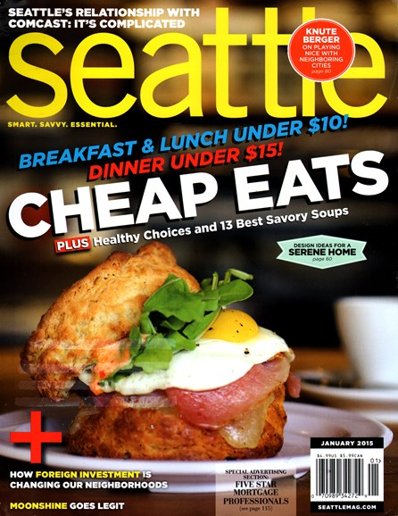 Seattle Magazine Cover - 1/1/2015