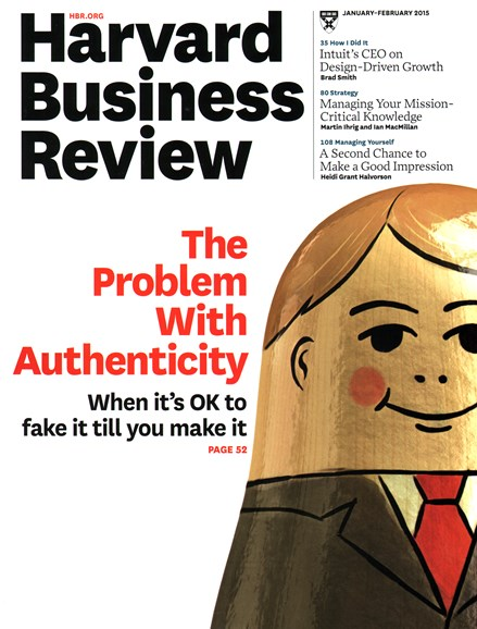 Harvard Business Review Cover - 1/1/2015