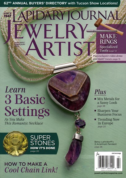 Lapidary Journal Jewelry Artist Cover - 1/1/2015