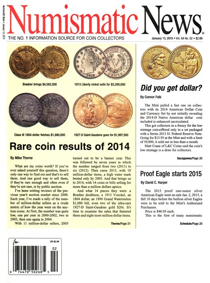 Numismatic News Cover - 1/13/2015