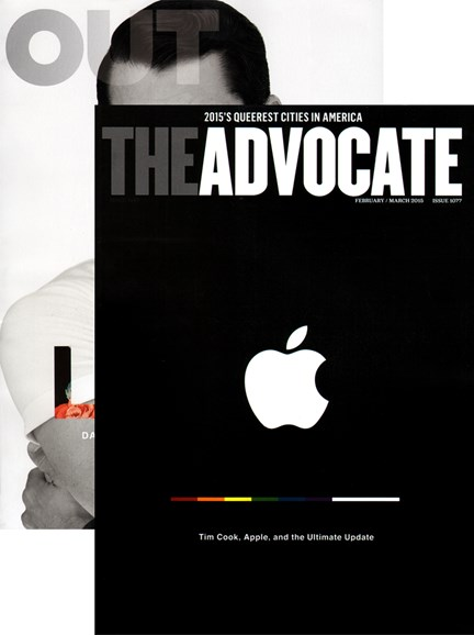 Out & The Advocate Edition Cover - 2/1/2015