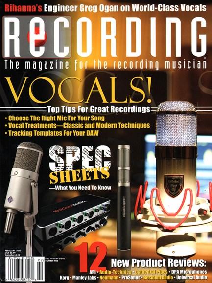 Recording Magazine Cover - 2/1/2015