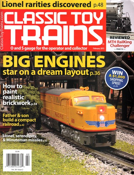 Classic Toy Trains Cover - 2/1/2015
