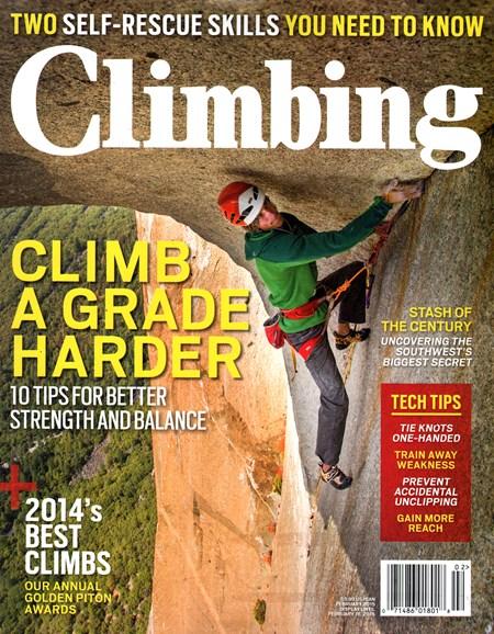 Climbing Magazine Cover - 2/1/2015