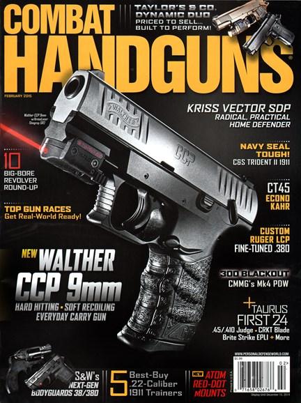 Combat Handguns Cover - 2/1/2015