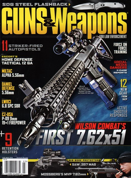 Guns & Weapons For Law Enforcement Cover - 2/1/2015