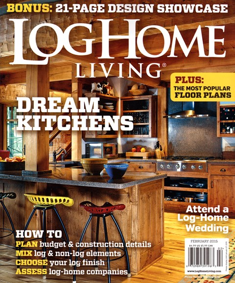 Log Home Living Cover - 2/1/2015