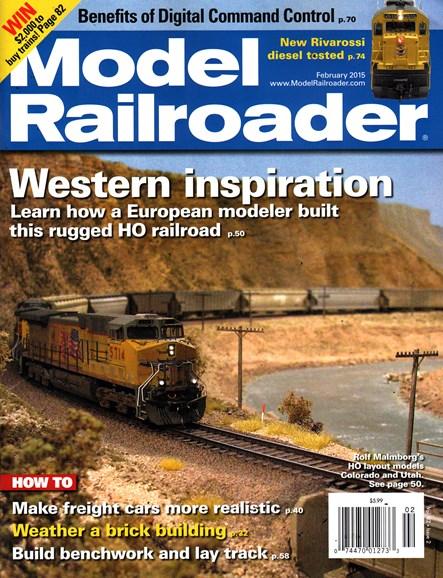 Model Railroader Cover - 2/1/2015