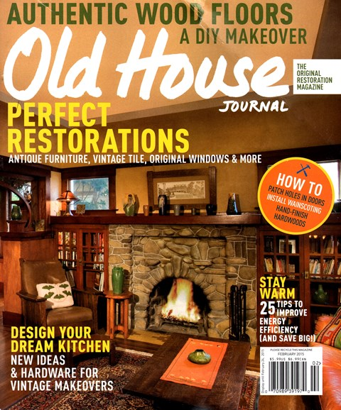 Old House Journal Cover - 2/1/2015