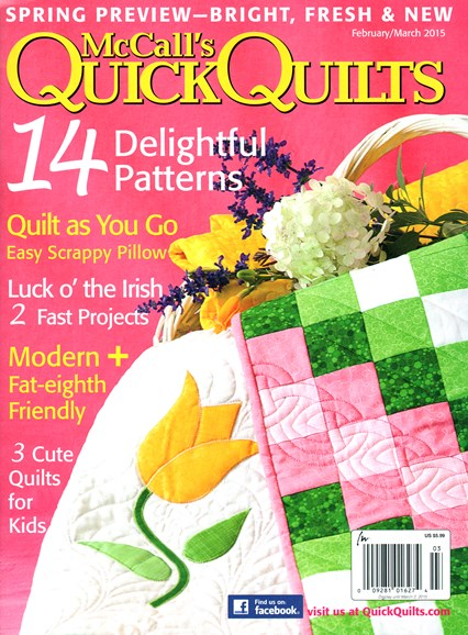 McCall's Quick Quilts Cover - 2/1/2015