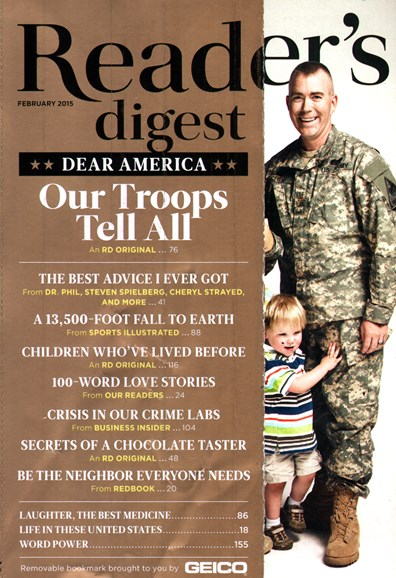 Reader's Digest Cover - 2/1/2015