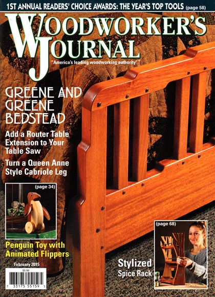 Woodworker's Journal Cover - 2/1/2015