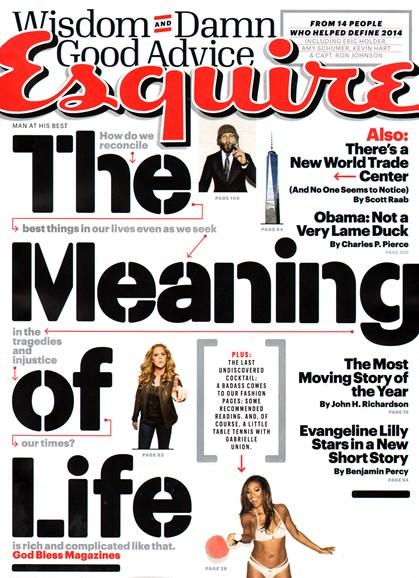 Esquire Cover - 1/1/2015