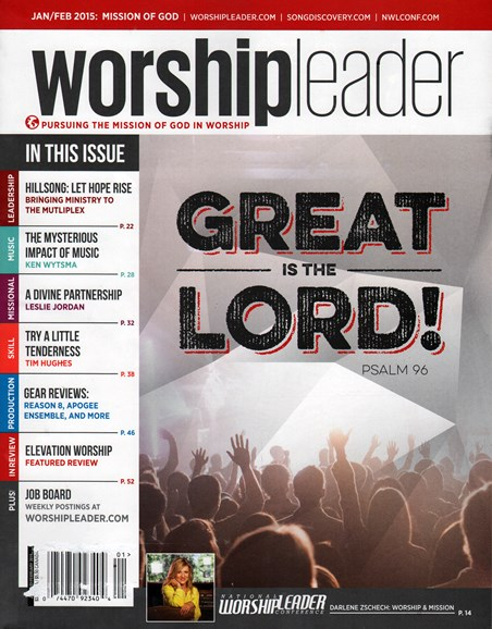 Worship Leader Magazine Cover - 1/1/2015
