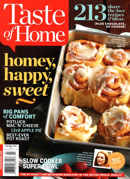 Taste of Home Cover - 2/1/2015