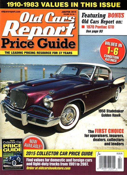 Old Cars Report Price Guide Cover - 1/1/2015