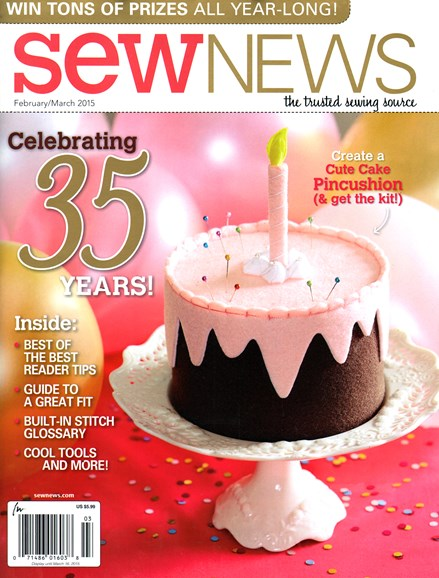 Sew News Cover - 2/1/2015