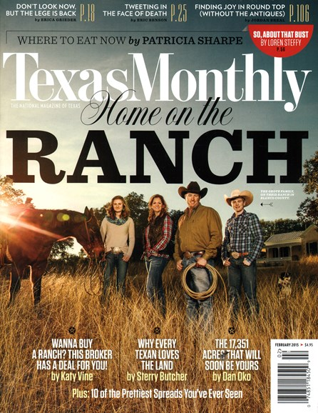 Texas Monthly Cover - 2/1/2015