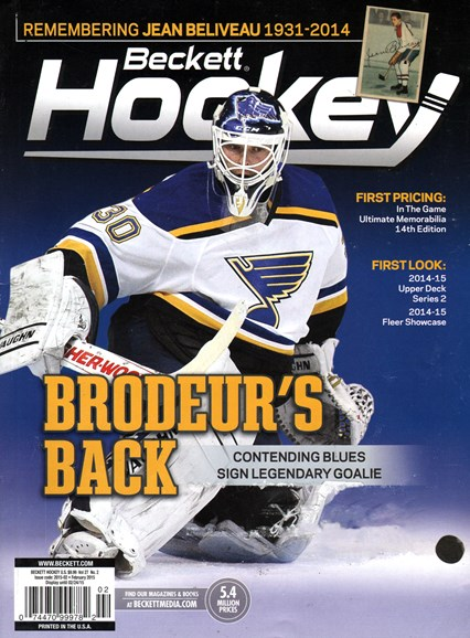 Beckett Hockey Cover - 2/1/2015