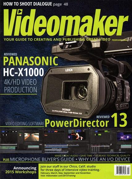 Videomaker Cover - 2/1/2015