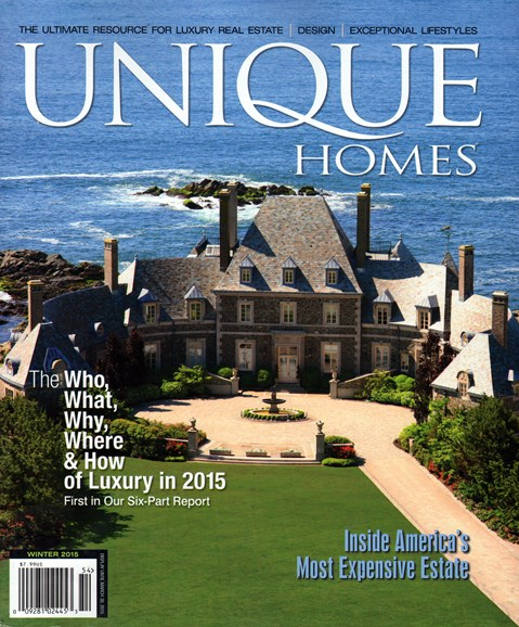 Unique Homes Cover - 1/1/2015