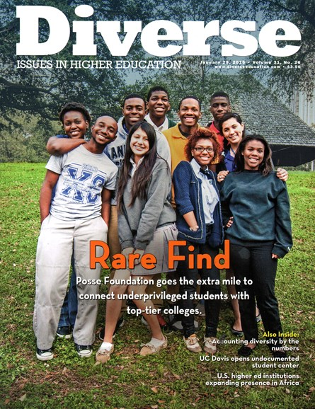 Diverse: Issues In Higher Education Cover - 1/29/2015