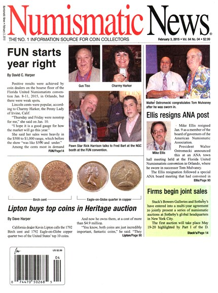 Numismatic News Cover - 2/3/2015