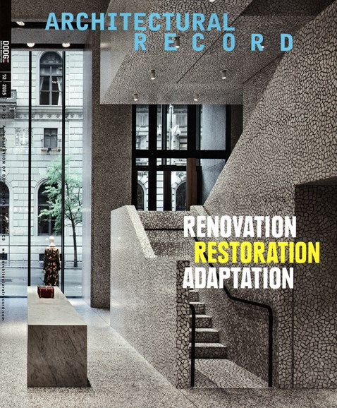 Architectural Record Cover - 2/1/2015