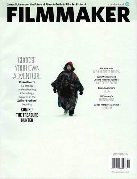 Filmmaker: The Magazine Of Independent Film Cover - 1/1/2015