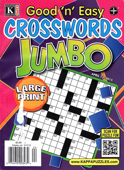 Good N Easy Crosswords Jumbo Cover - 4/13/2015