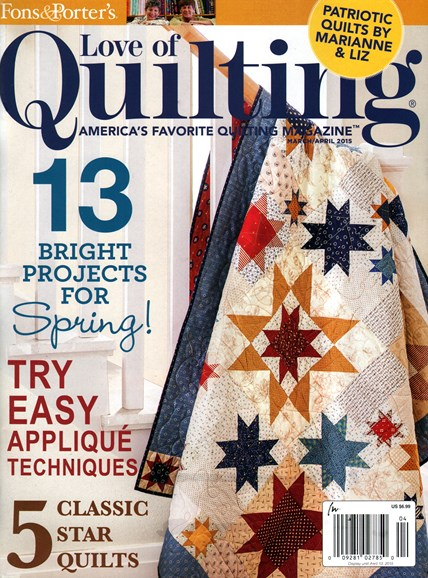 Fons & Porter's Love of Quilting Cover - 3/1/2015
