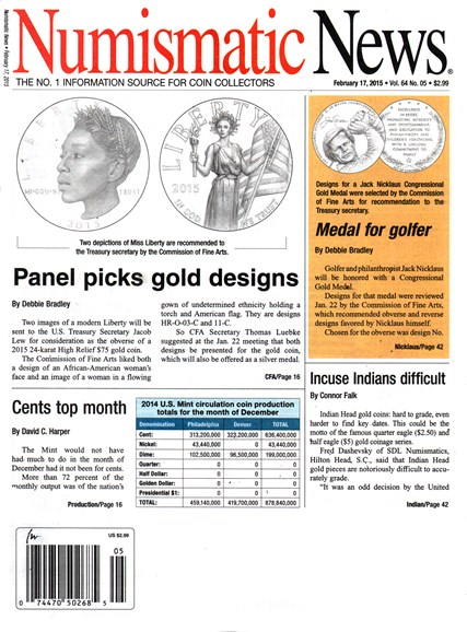 Numismatic News Cover - 2/17/2015