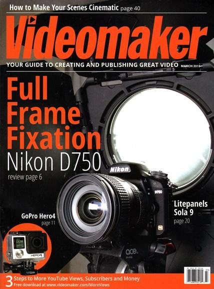 Videomaker Cover - 3/1/2015