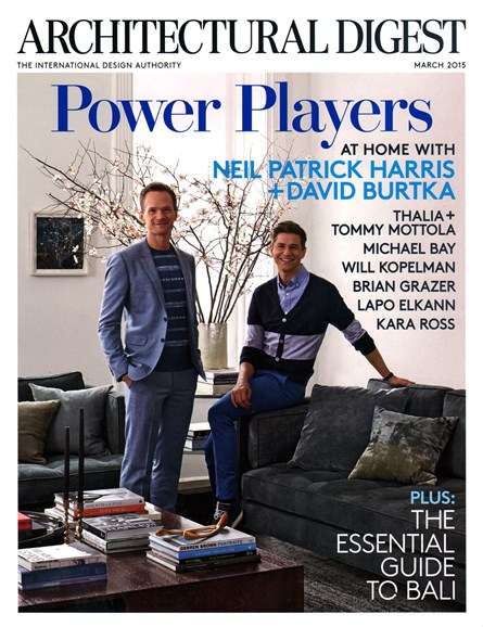 Architectural Digest Cover - 3/1/2015