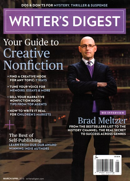 Writer's Digest Cover - 3/1/2015