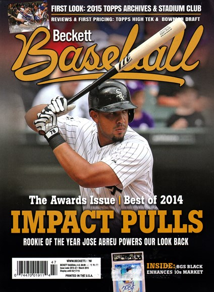 Beckett Baseball Cover - 3/1/2015