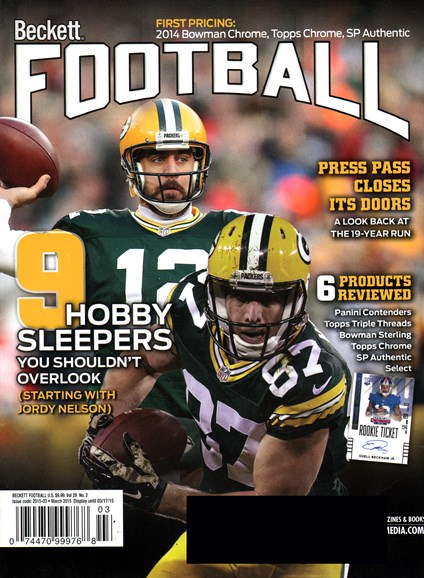 Beckett Football  Cover - 3/1/2015