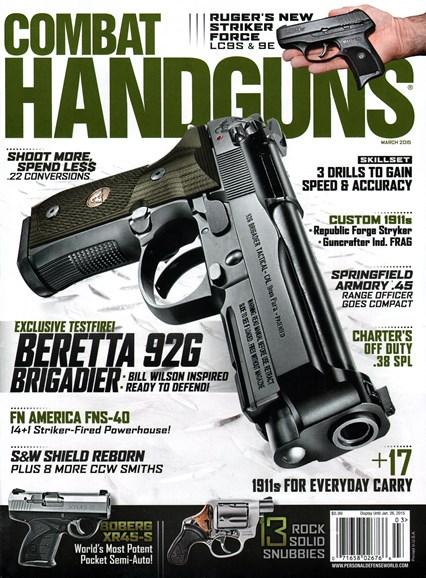 Combat Handguns Cover - 3/1/2015