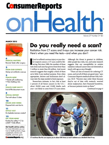 Consumer Reports On Health Cover - 3/1/2015