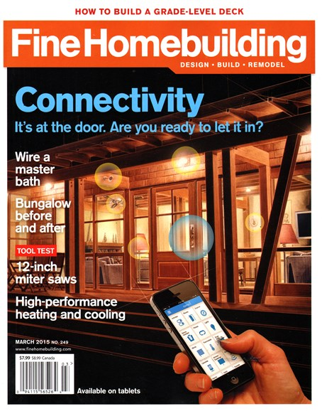 Fine Homebuilding Cover - 3/1/2015