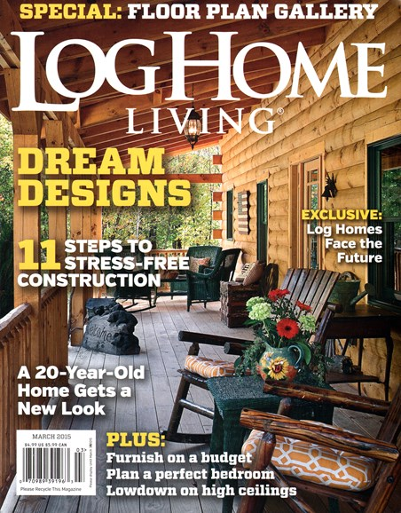 Log Home Living Cover - 3/1/2015